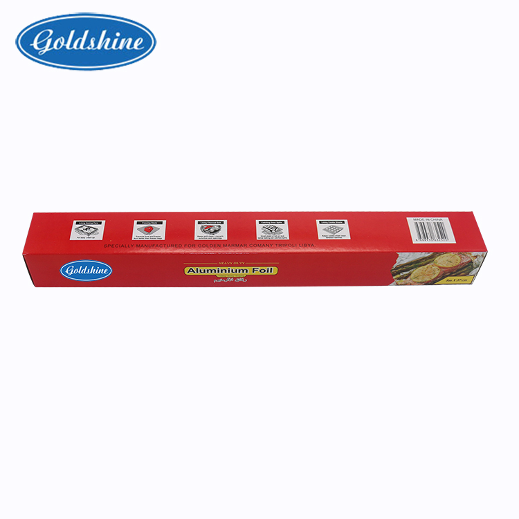 Disposable aluminum foil rolls for food wrapping