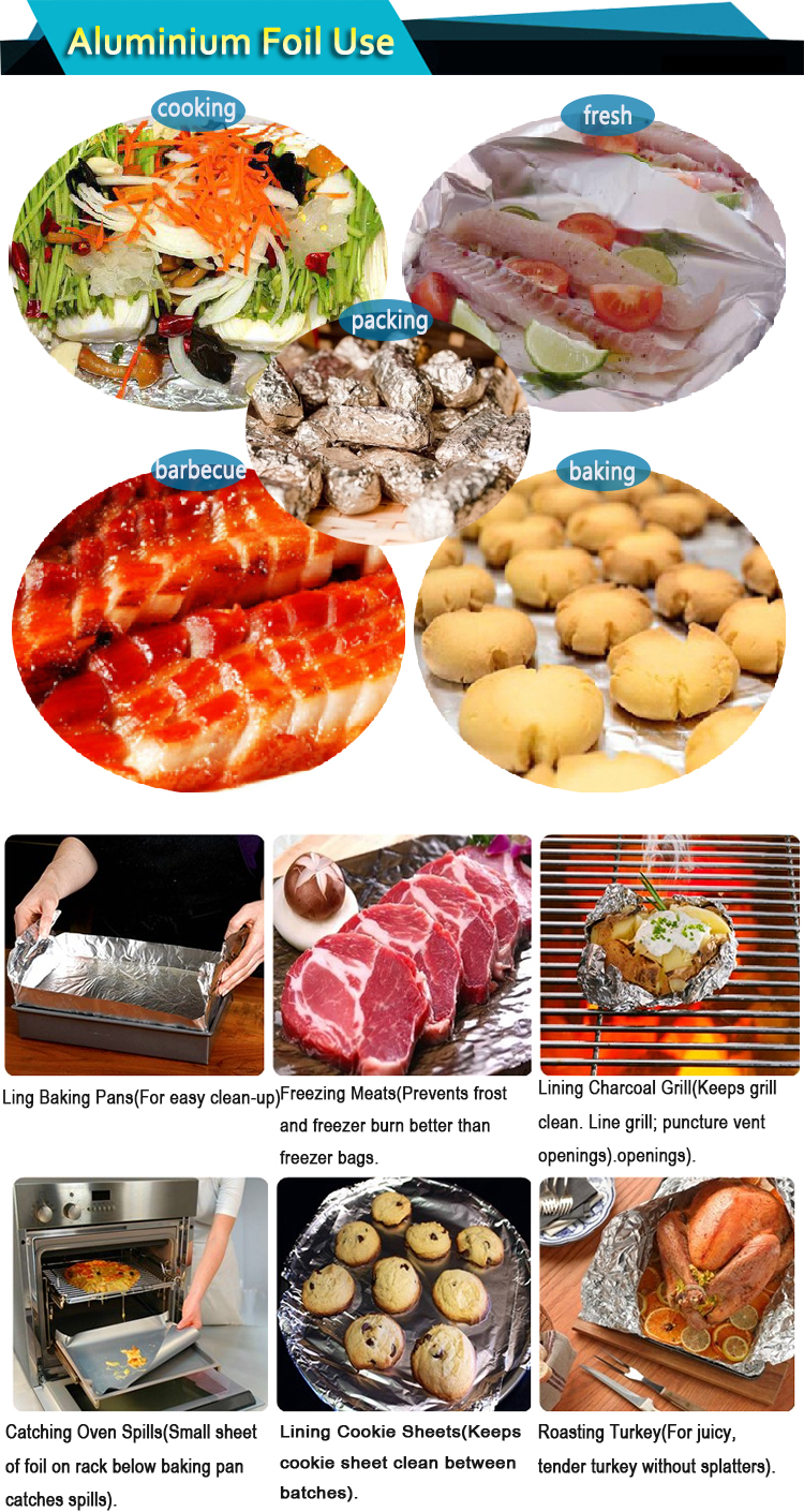 greensource aluminium foil roll food packaging low price for lining charcoal grill