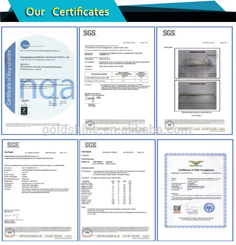 8011 food grade aluminum foil Roll Price in factory