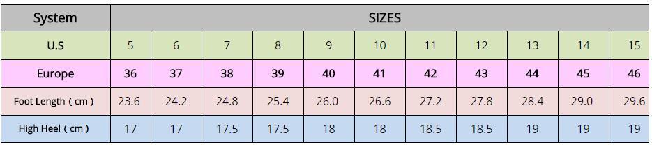 """18CM/7"""" High Heel Hoof Heel Boots Ankle High Heelless"""
