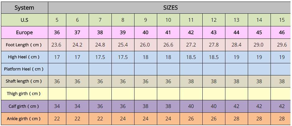 "Glitter Boots For Women 7""/18CM Extreme High Hoof Heels"
