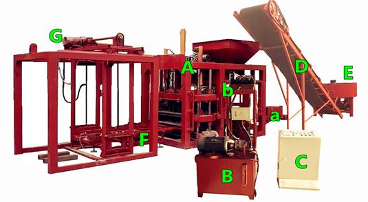 QT4-20 Full Automatic Vibration Press Concrete Hollow Block Molding Machine Sand Flyash Cement Stone Construction Industry