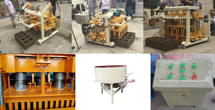 Hydraulic  Moving Cement Brick Making Machine in Haiti concrete block machinery