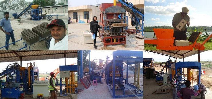 QT10-15 concrete cover block making machine for selling Brick Making Machinery fly ash bricks