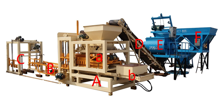 QT6-15 full automatic brick making machine by hydraulic and vibration make block