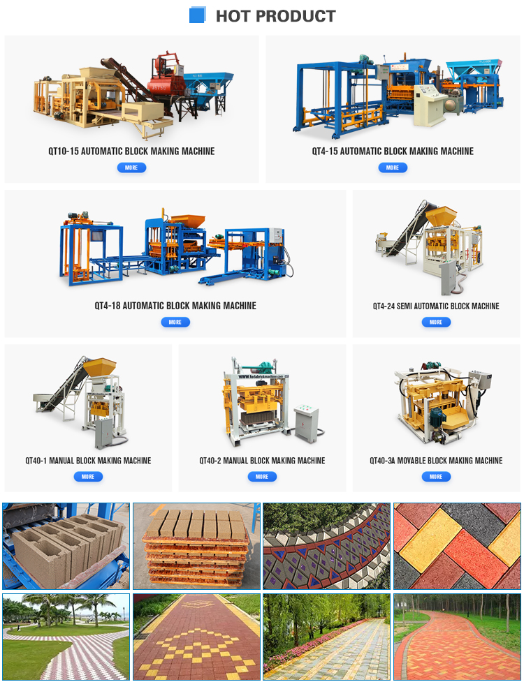 Equipment for ecological brick QT40-3C cheap moving cement hollow block making machine price