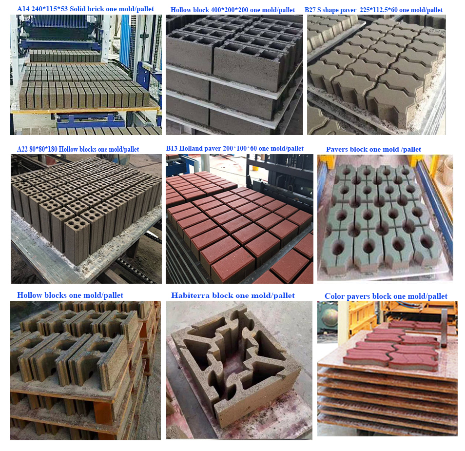 small bricks production concrete block moulding machinery blocks machine cement brick making machine price in malaysia