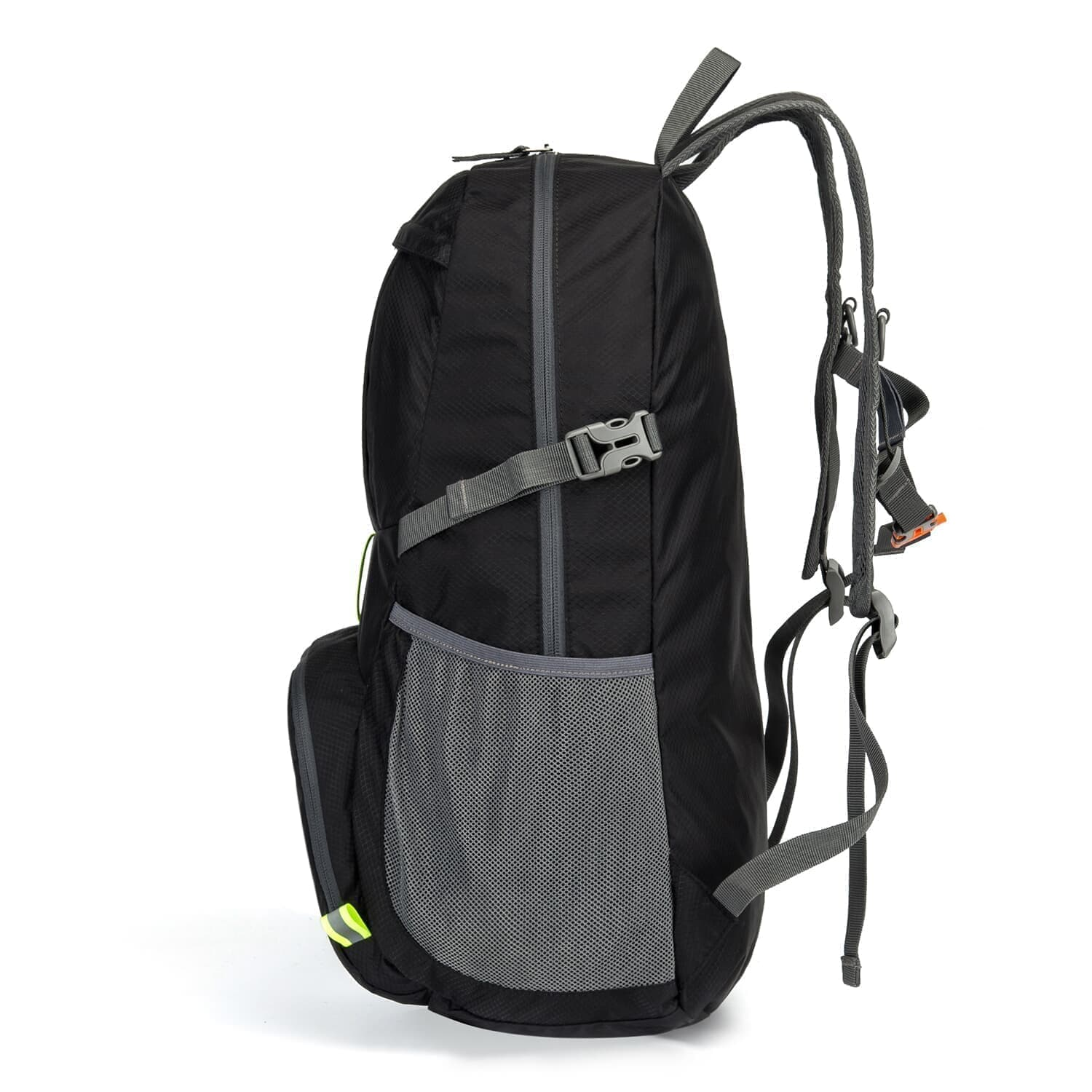 Homfu Foldable Backpack For Travel Packable Daypack For Hiking Camping Waterproof Lightweight Bag Black (Black-35L)