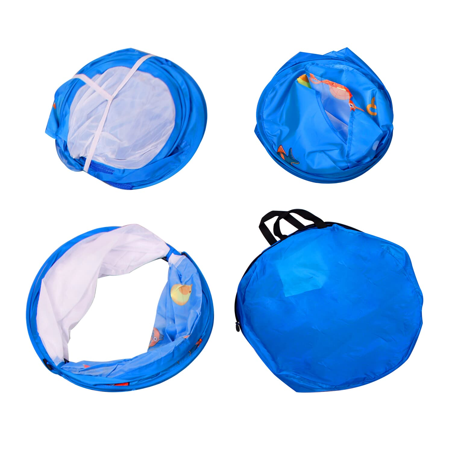 Homfu  3 in 1 Pop up Kids Play Tent with Tunnel Ocean Ball Pit Pool With Basket Hoop For Toddler Boys Girls To Play And Craw Indoor&Outdoor As Birthday Gift