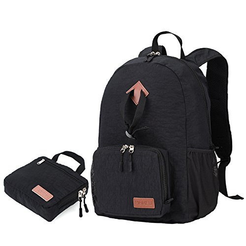 Homfu 30L Foldable Backpack For Travel Packable Daypack For Hiking Camping Waterproof Lightweight Bag Black18
