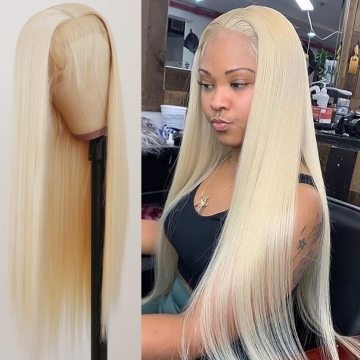613 Honey Blonde Lace Front Human Hair Wigs Short Bob Wig  Remy Straight Pre Plucked Brazilian Hair Frontal Wig For Black WomenHoney Blonde Lace Front Human Hair Wigs Short Bob Wigslace front wigs human hair,human hair wigs,lace frontal
