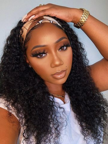 Headband Wig Human Hair Curly Full Machine Made Wigs Deep Wave Glueless Water Wave For Black Women Curl Hair Wig With HeadbandHeadband Wig Human Hair Curly Full Machine Made Wigs Deep Wave For Black Women Curl Hair Wig With Headbandheadband wig styles,Deep Wave Curly Headband Wig,headband wigs