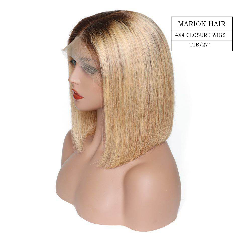 Light Blonde Lace closure wig hair