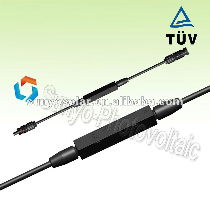 BIPV PV solar Junction box with MC4 50CM cable size 2.5/4 mm2 15A diode solar panel connector manufacturer solar panel solar connector diode connectorBIPV solar junction box with MC4 by factory price OEM manufacturer