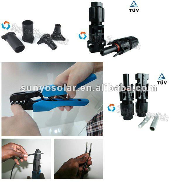 PV Solar solar Connector spanner tool set mechanical hand, MC3/MC4 crimping tool/stripping tool/cutting key, 2.5/4.0/6.0mm PV solar cableMC4 crimping Tool  stripping cutting tool kit from Taiwan