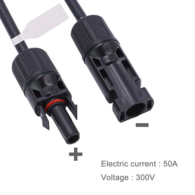 MC4 solar cable connector  with sae  connector and 10AWG cableMC4 Solar cable adapter 10AWG cable Sae connector with MC4 connector
