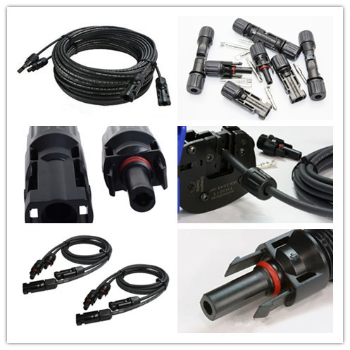 TUV Approved PV Solar Cables Connector Solar PV connector with 4.0mm2 (or 12AWG) assemble extension cableTUV Approved PV Solar Cables Connector Solar PV connector with 4.0mm2 (or 12AWG) assemble extension cable