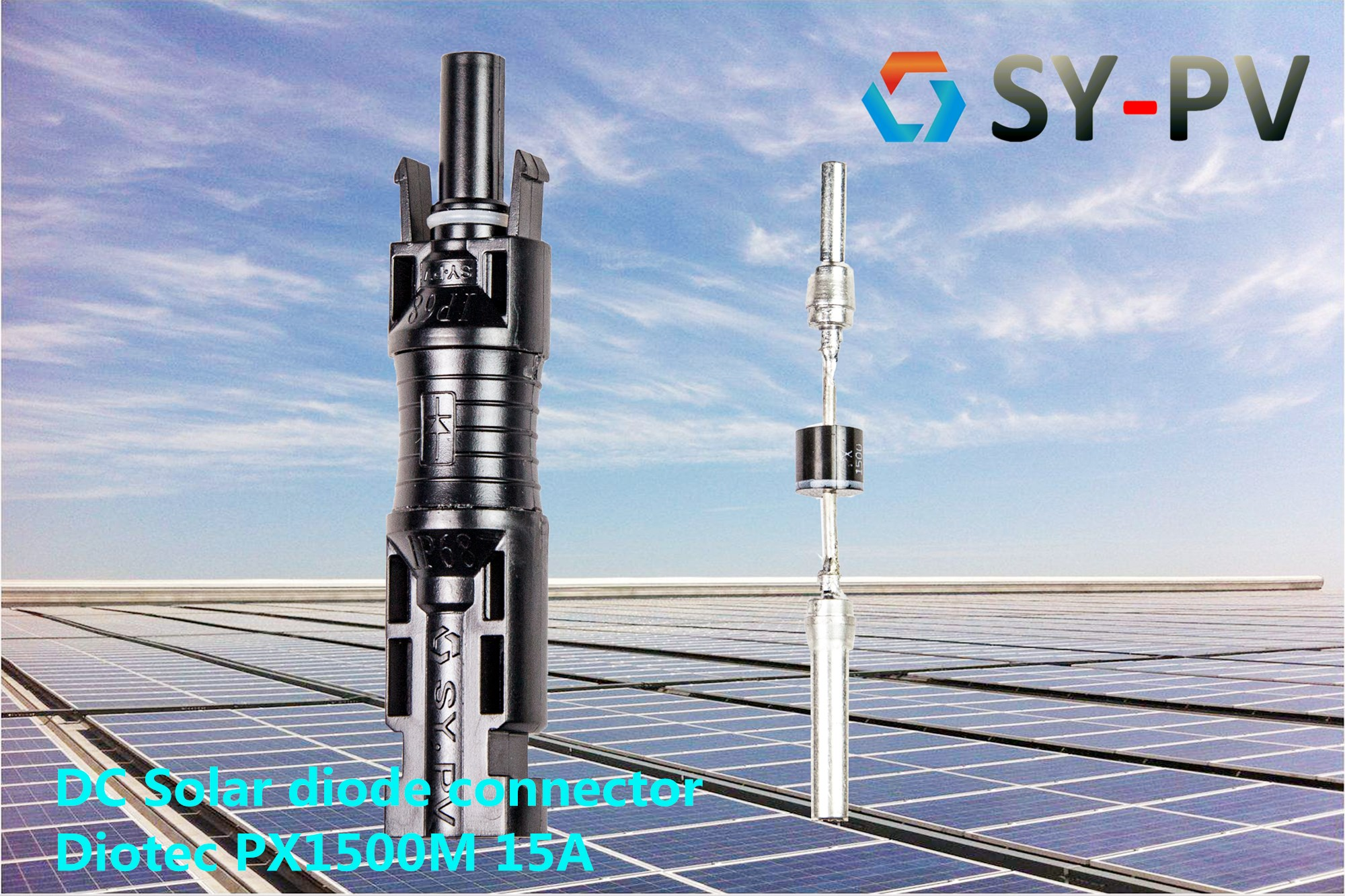 Solar pv DC MC4 Diode Connector manufacturer in China 15A 20A 25A PX1500M IP68 Solar pv DC MC4 Diode Connector manufacturer in China 15A 20A PX1500M