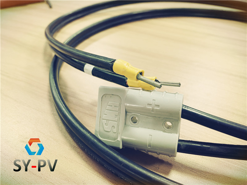 XLPE TUV UL  extension cable with MC4 and power clip or power plug terminalXLPE extension cable with MC3 MC4 TUV Pv1-f PV wire UV risistant 1500V for solar plant