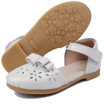 Toddler Girls Ballet Flats Ankle Strap Girls Dress Shoes Sandals Genuine Leather Mary Jane for Baby Girls/Little Girls