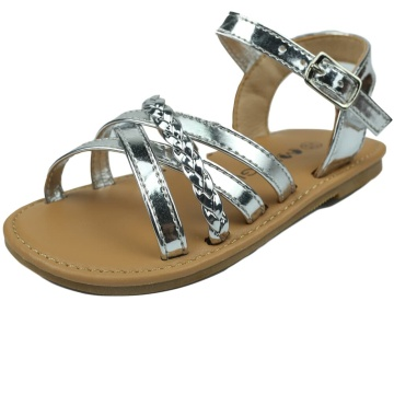 Toddler Girls Sandals Open-Toe Leather Girls Flats Sandals with Cross Strap Casual Summer Shoes for Baby/Little Girls Toddler Gladiator Sandals