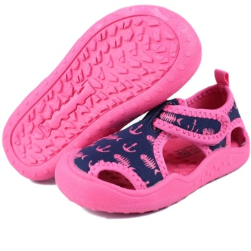 Kids Aquatic Water Shoes Boys and Girls Aqua Shoes with Breathable Fabric Toddler Sport Sandals for Toddler/Little Kids
