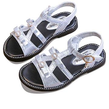 Girls Glittery Sandals with Adjustable Strap Summer Dressy Shoes for Baby/Toddler/Little Girls