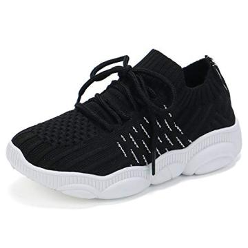 Kids Knitting Sneakers Lightweight Slip On Breathable Running Casual Walking Tennis Shoes