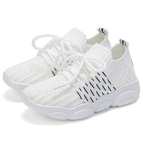 Kids Running Sneakers Lightweight Walking Mesh Slip-On Shoes Breathable Tennis