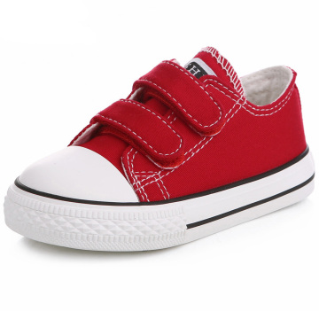 Toddler Sneakers Boys and Girls Sneakers Low Top Canvas Shoes with Adjustable Strap Lightweight Casual Shoes for Baby/Toddler/Li