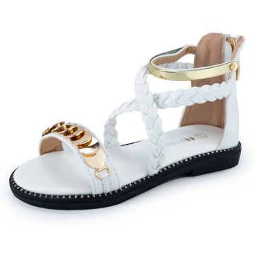 MUYGUAY Girls Gladiator Sandals with Sequins Zipper Strappy Summer Shoes for Toddler Gladiator Sandals/Little Girl
