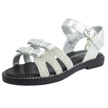 Toddler Girls Little Kid Sandals Open Toe Bow Flat Summer Dressy Shoes