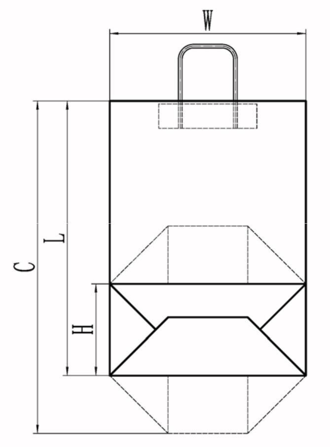 LHB-450 Fully Automatic Roll-fed Square Bottom Paper Bag Making Machine -Tianfuchenglai-25Fully Automatic Roll-fed Square Bottom Paper Bag Machine with handle-Tianfuchenglai