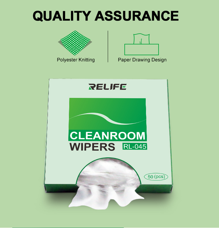 RELIFE RL-045 Anti-Static Cleanroom WipersRELIFE RL-045 Anti-Static Cleanroom Wipers