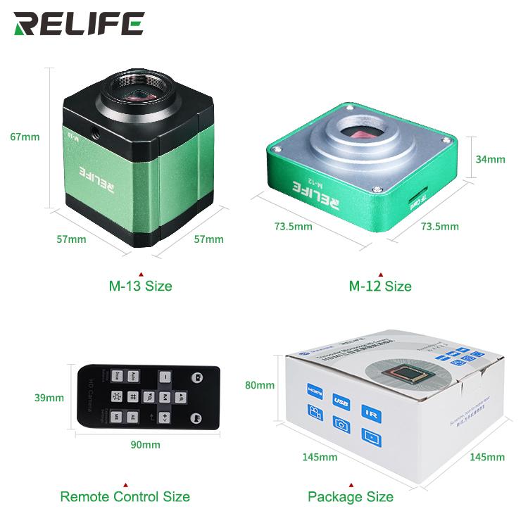RELIFE M-12 M-13 3800W trinocular microscope HD cameraRELIFE M-12 M-13 3800W trinocular microscope HD camera