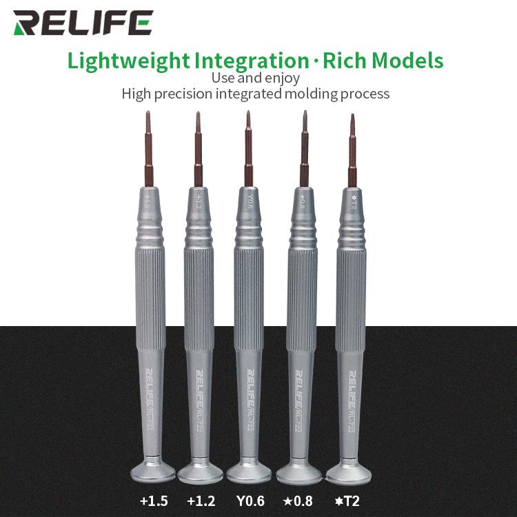 RELIFE RL-722 Precision Screwdriver 0.8* 1.2+ 1.5+ 0.6Y T2RELIFE RL-722 Precision Screwdriver 0.8* 1.2+ 1.5+ 0.6Y T2