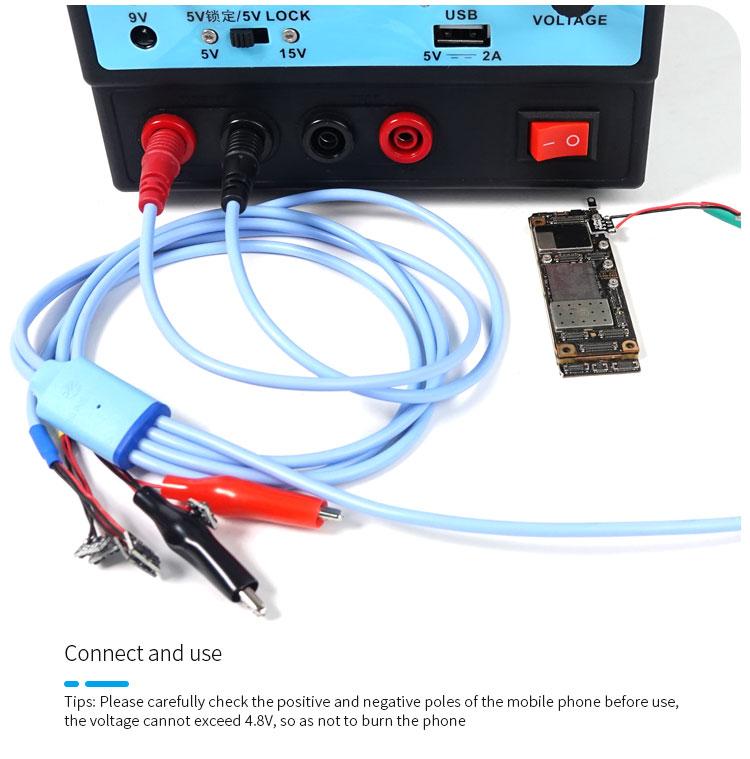 SUNSHINE SS-908B IPhone Repair Power Cablesunshine SS-908B IPhone Repair Power Cable