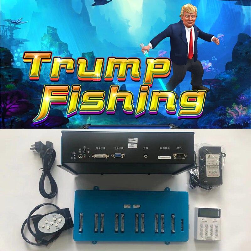 Trump Fishing Game Board Whole Kit Fishing Shooting Arcade Game Board Kit
